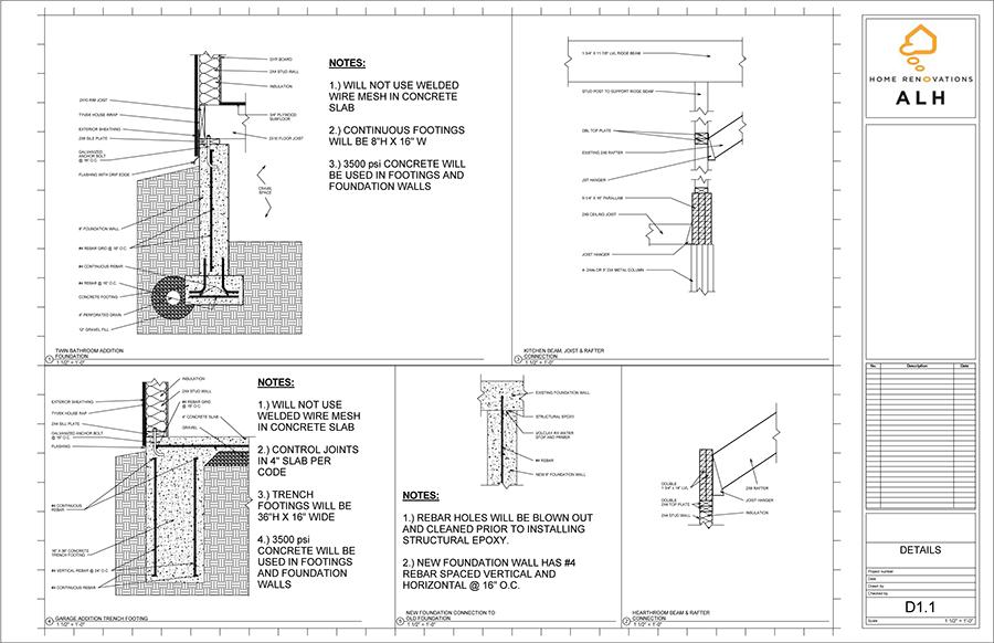 Architectural Plans Alh Home Renovations Llc